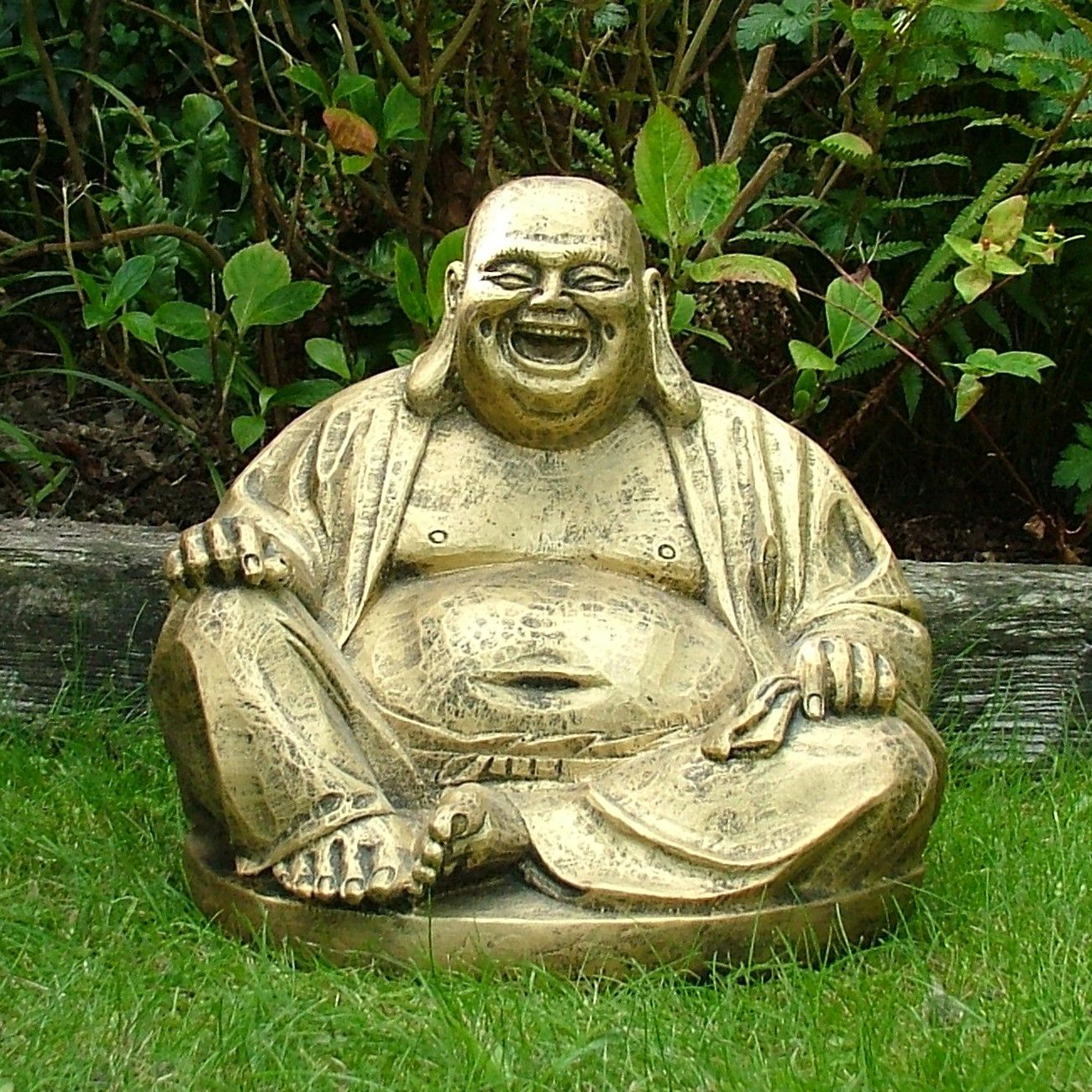Laughing Buddha Garden Statue Outdoor Make the landscaping a place