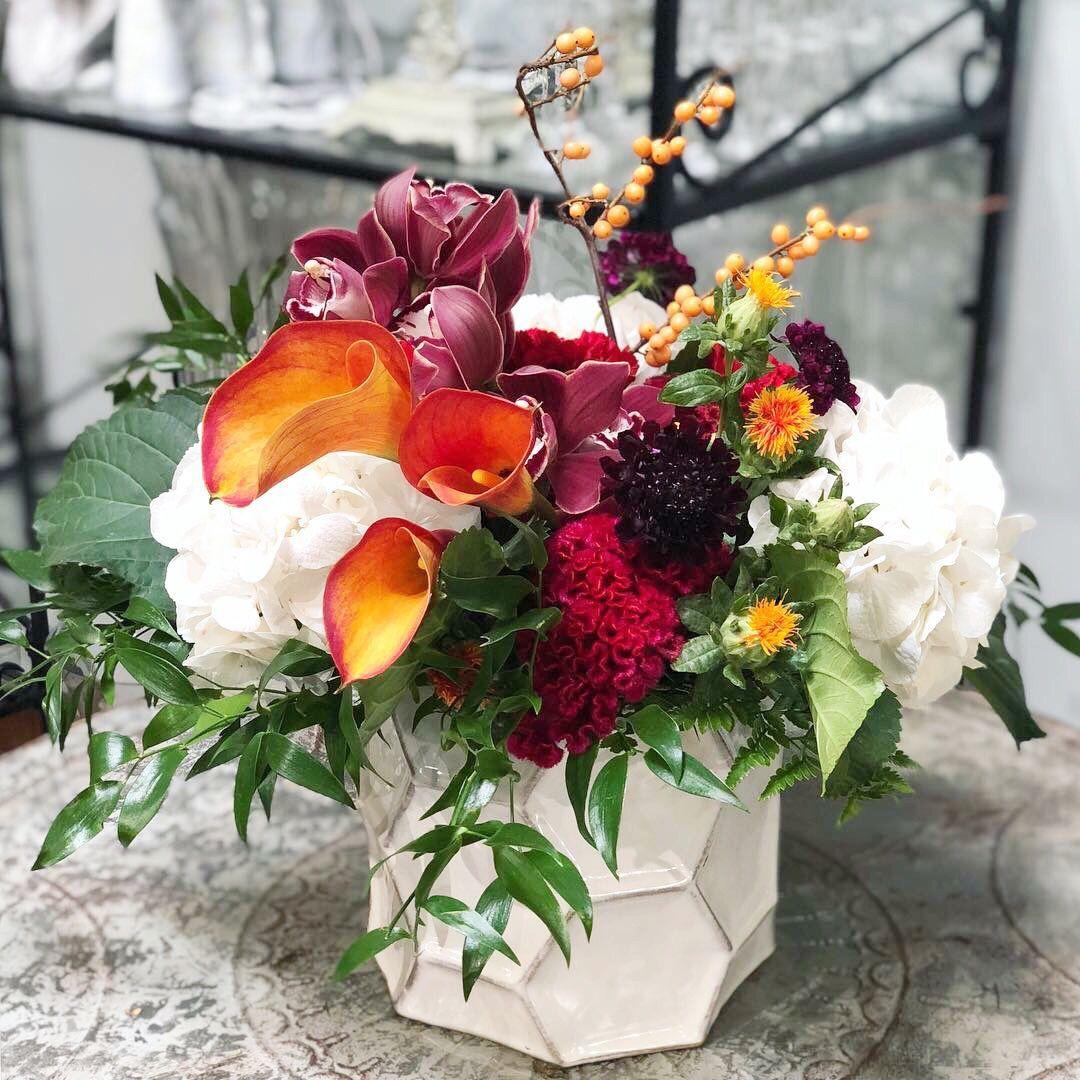 Fall centerpiece lilac wedding