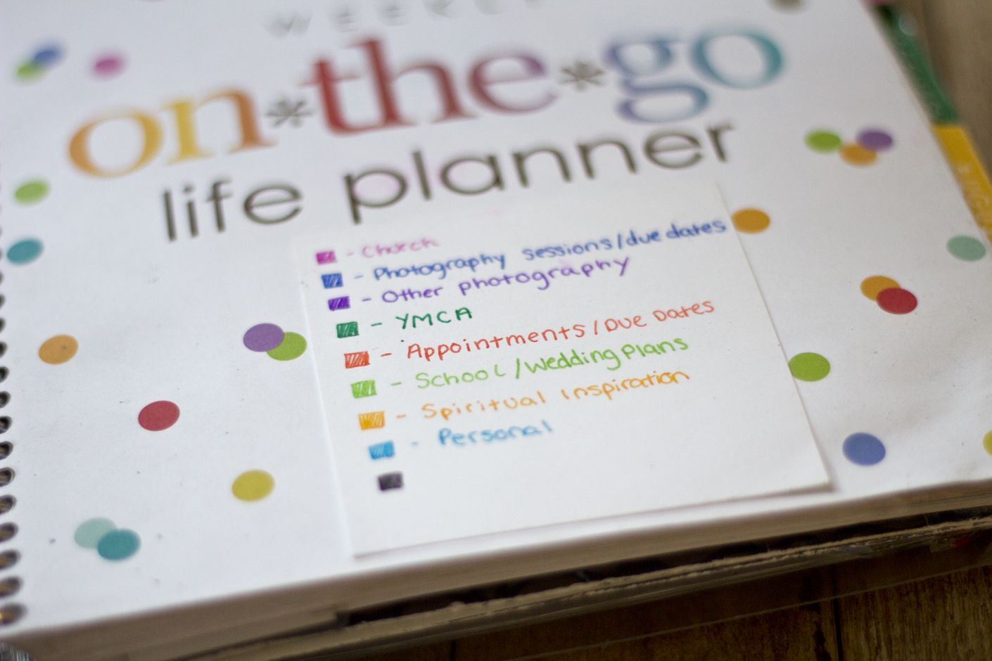 Erin Condren Planner Review A Year Later Color coding