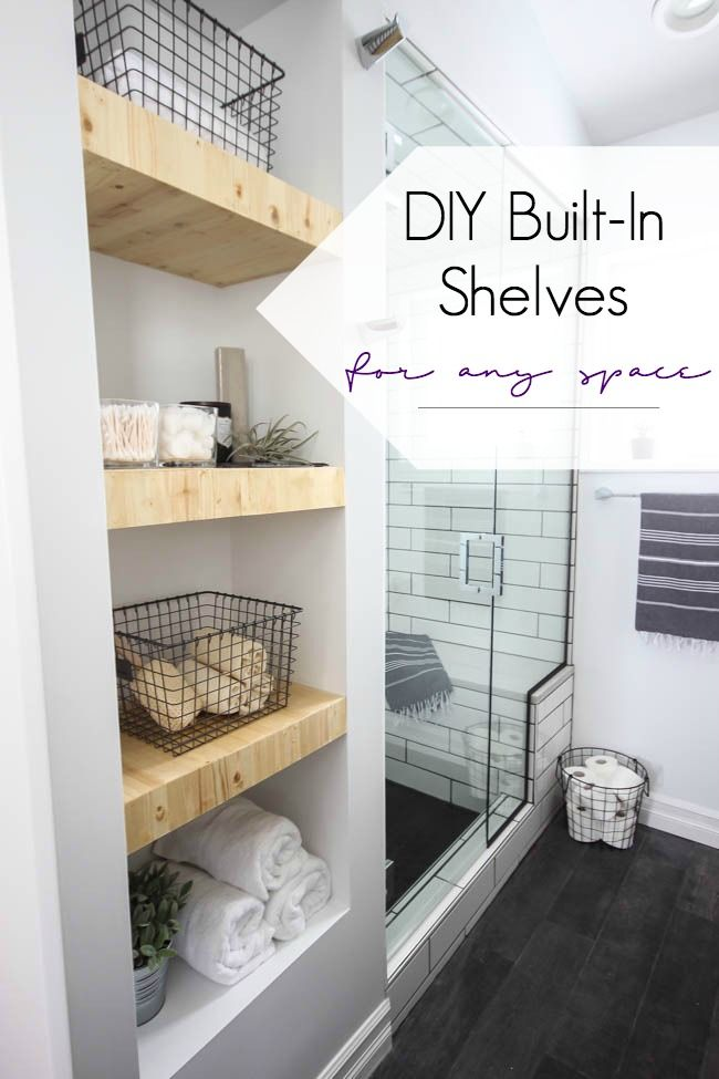How to Make Your Own Built-In Shelving Diy shelving, Simple diy