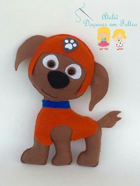 Patrulla canina fieltro pinterest patrulla canina - Manualidades patrulla canina ...