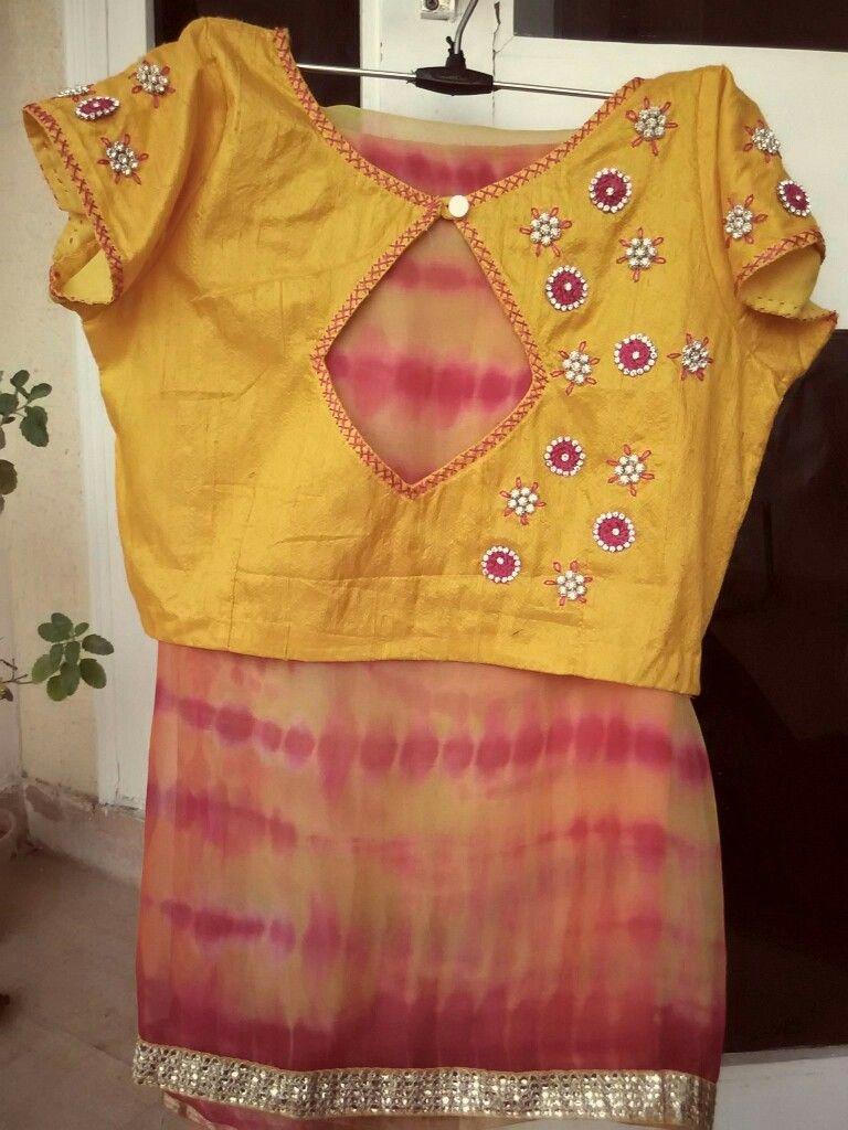 01e38fba18f95 Shibori saree n blouse