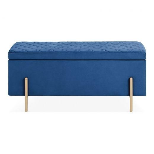 Tremendous Cult Living Valerie Ottoman Storage Bench Velvet Bralicious Painted Fabric Chair Ideas Braliciousco
