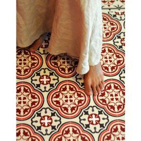 Tapis vinyl portugal red beija flor tiles pinterest - Carrelage portugal ...