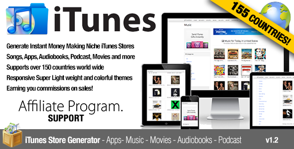 Itunes Affiliate S Music Movies Chart By Vidal On Codecanyon Instant Generator And Search Engine Automatically