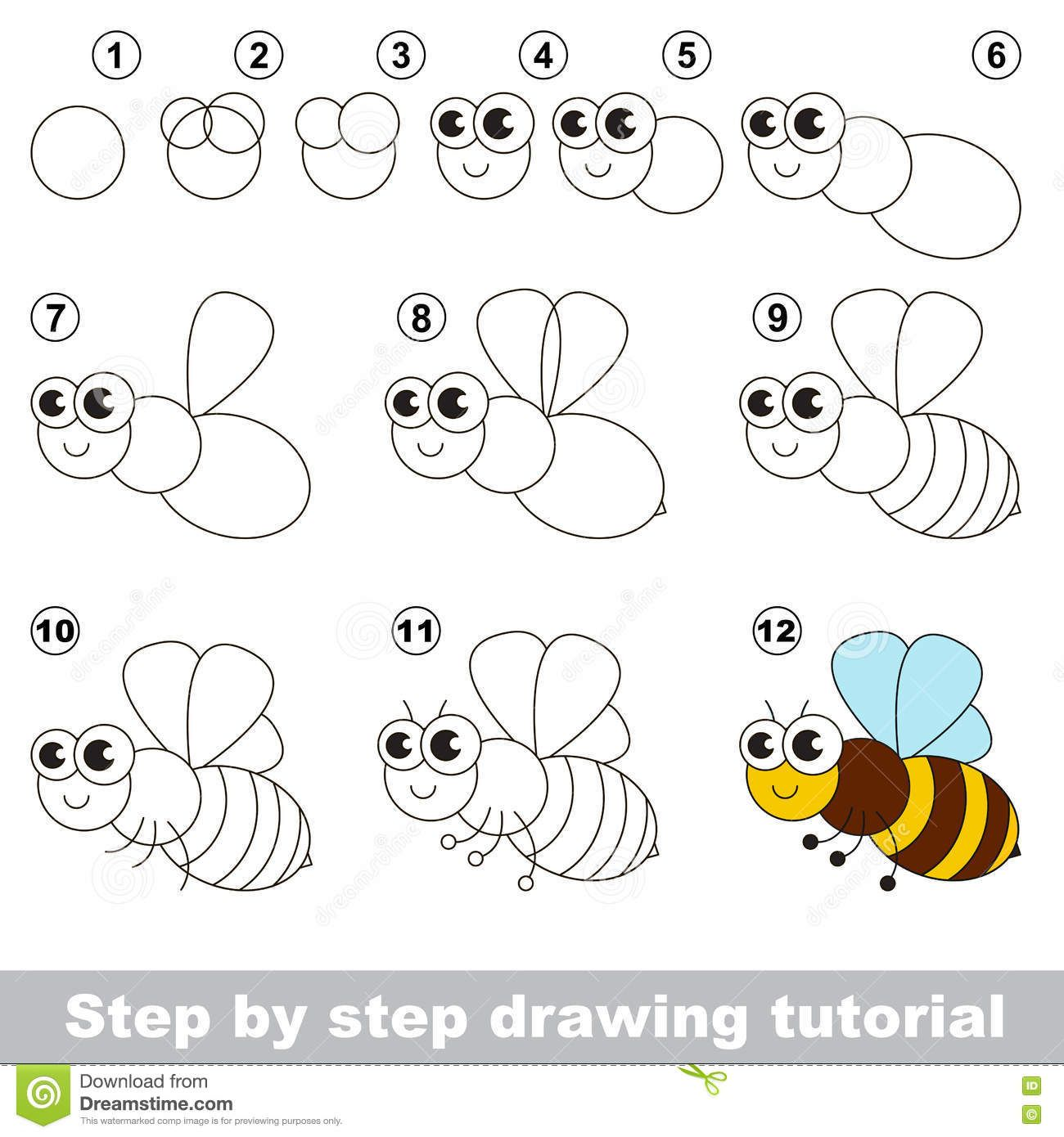 Image Result For How To Draw A Bee Step By Step