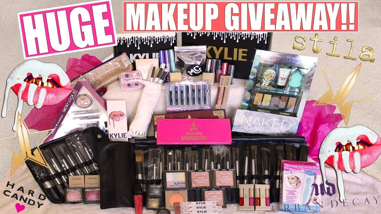 Huge Makeup Giveaway Kylie Cosmetics Jeffree Star Stilla Internat Makeup Giveaway Cheap Skin Care Products Anti Aging Skin Products