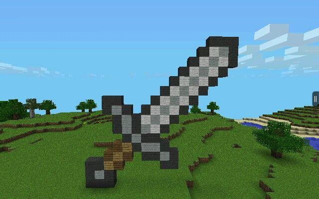 Minecraft Pe Simple Pixel Art Iron Sword Easy Pixel Art Pixel Art Minecraft Art