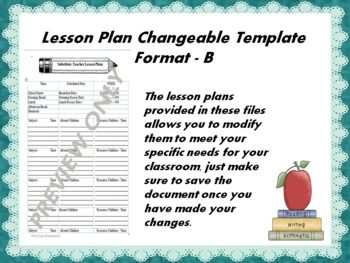 The lesson plans provided in these files allow you to modify them to meet your specific needs for your classroom, just make sure to save the document once you have made your changes.If you download this product please take some time to rate it and provide me with some feedback.
