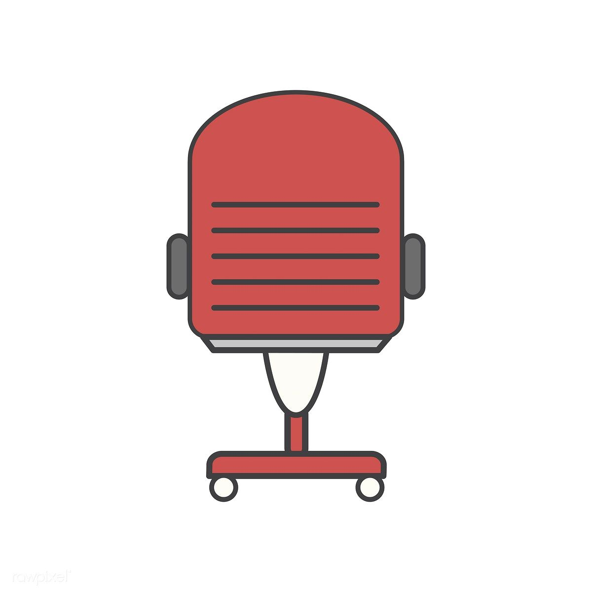 illustration of office chair icon free image by rawpixel com rh pinterest com Icon Office Chair No Backgroujd Office Chair Clip Art