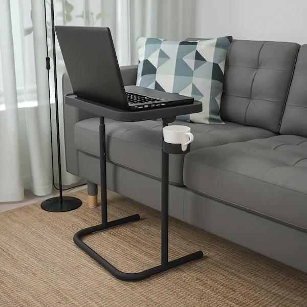Bjorkasen Laptop Stand Anthracite Ikea En 2021 Table Pour Ordinateur Portable Support Ordinateur Portable Ordinateur Portable