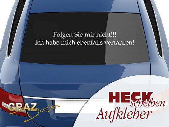 Autoaufkleber Auto Aufkleber Tattoo Für Heckscheibe Spruch