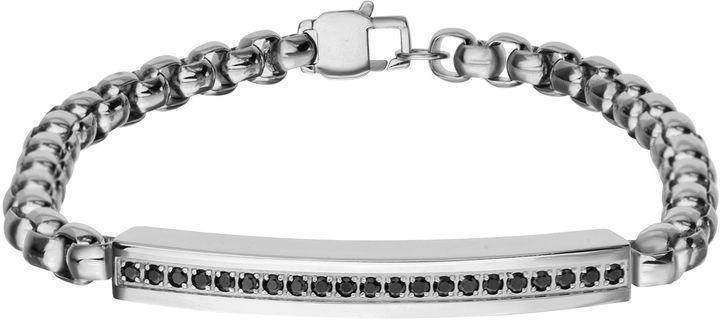 Fine Jewelry Mens Stainless Steel ID Chain Bracelet CctWHH