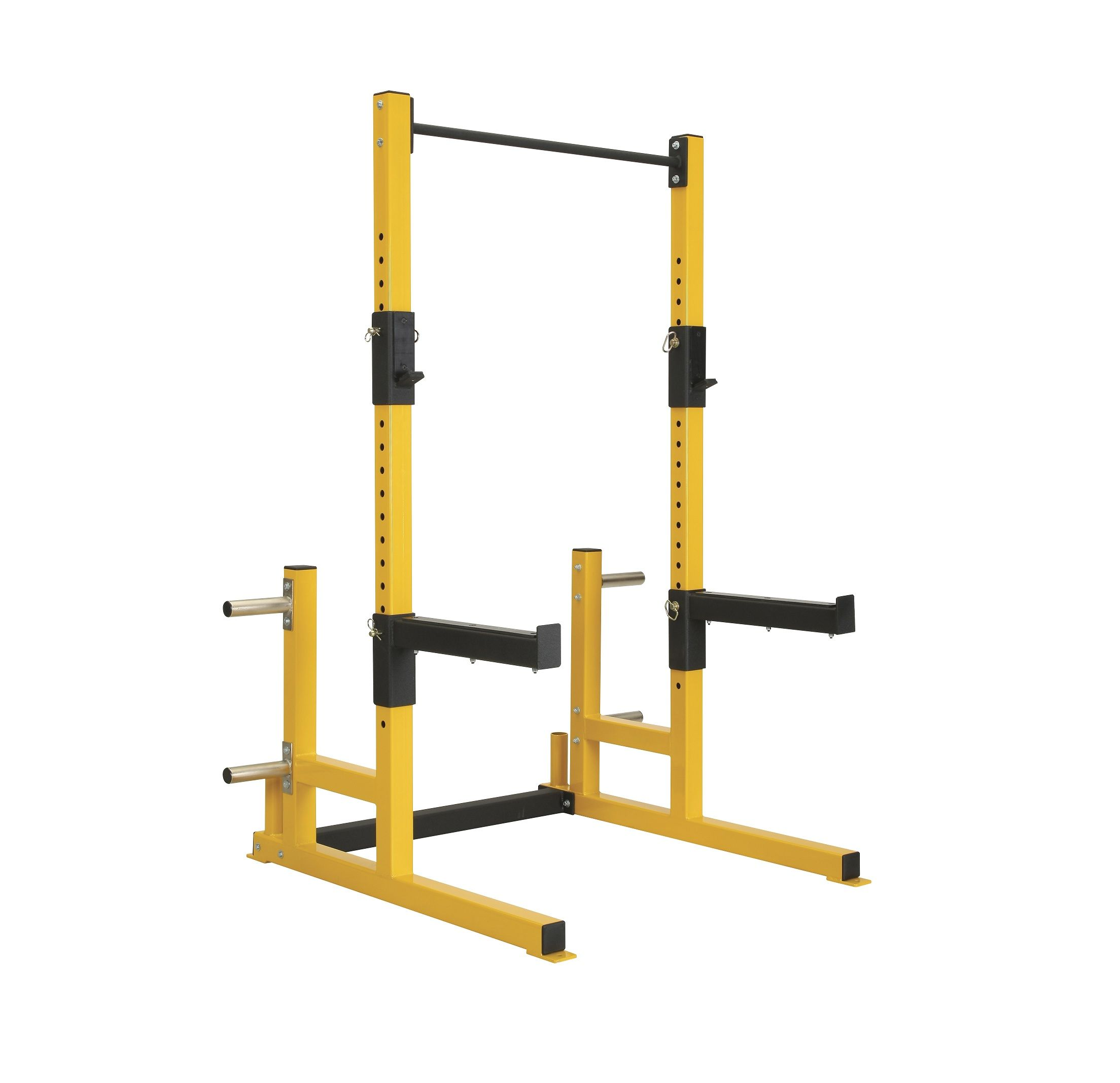 Op 3 Squat Rack System With Pull Up Bar Yellow Jpg 2208 2136 Squat Rack Squats Homemade Gym Equipment