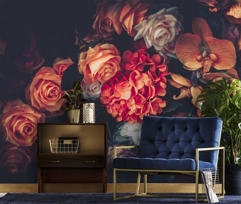 Pin On Vintage Floral Wallpapers