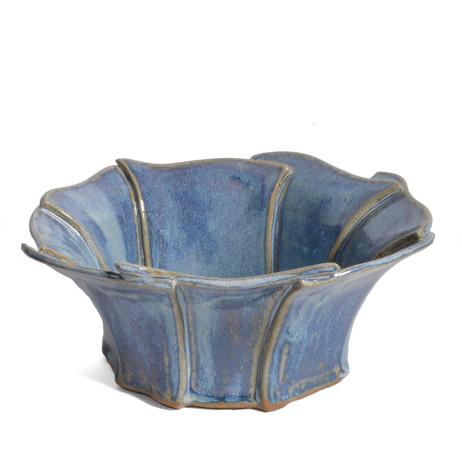 Anthony Stoneware Slab-Built 8-inch Petal Rim Bowl