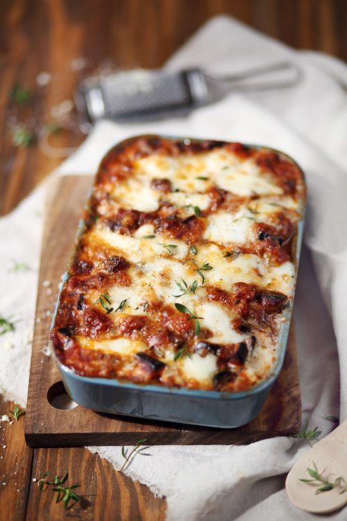 Gratin d'aubergines au parmesan et à la mozzarella - chefNini