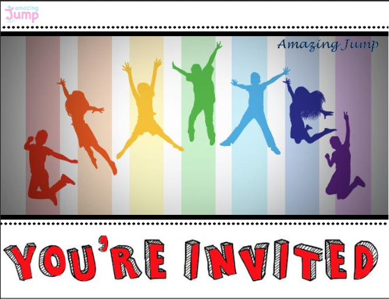 We have free Amazing Jump invitation printables on our website – Party Invite Website