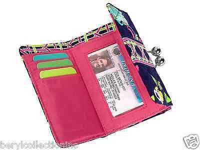 NWT Vera Bradley Small Kisslock Wallet in Ribbons COIN ID POUCH FOLD 11892 132 B