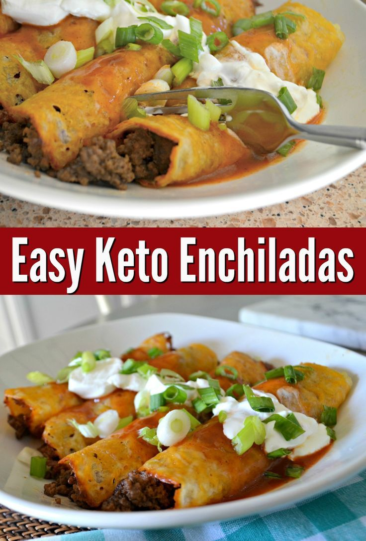 Keto Ground Beef Enchiladas #ketodinnerrecipes