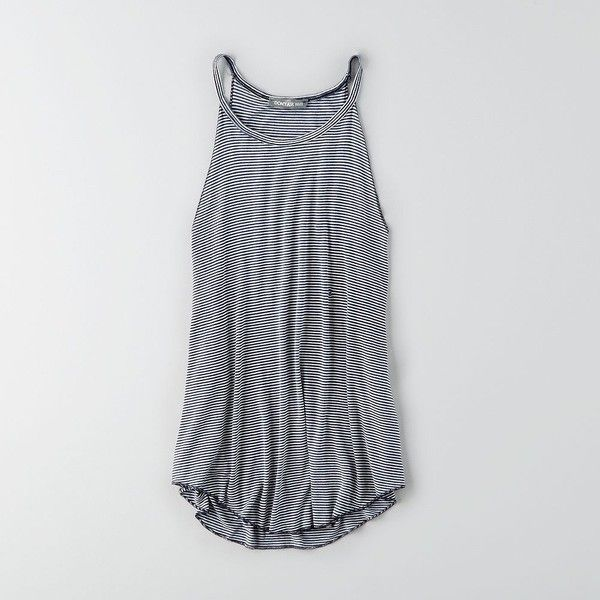 827f30c968 AEO Hi-Neck Draped Tank (€27) ❤ liked on Polyvore featuring tops · Navy  Blue TopsBlue Tank TopsWhite TopsNicole FashionAmerican Eagle ...