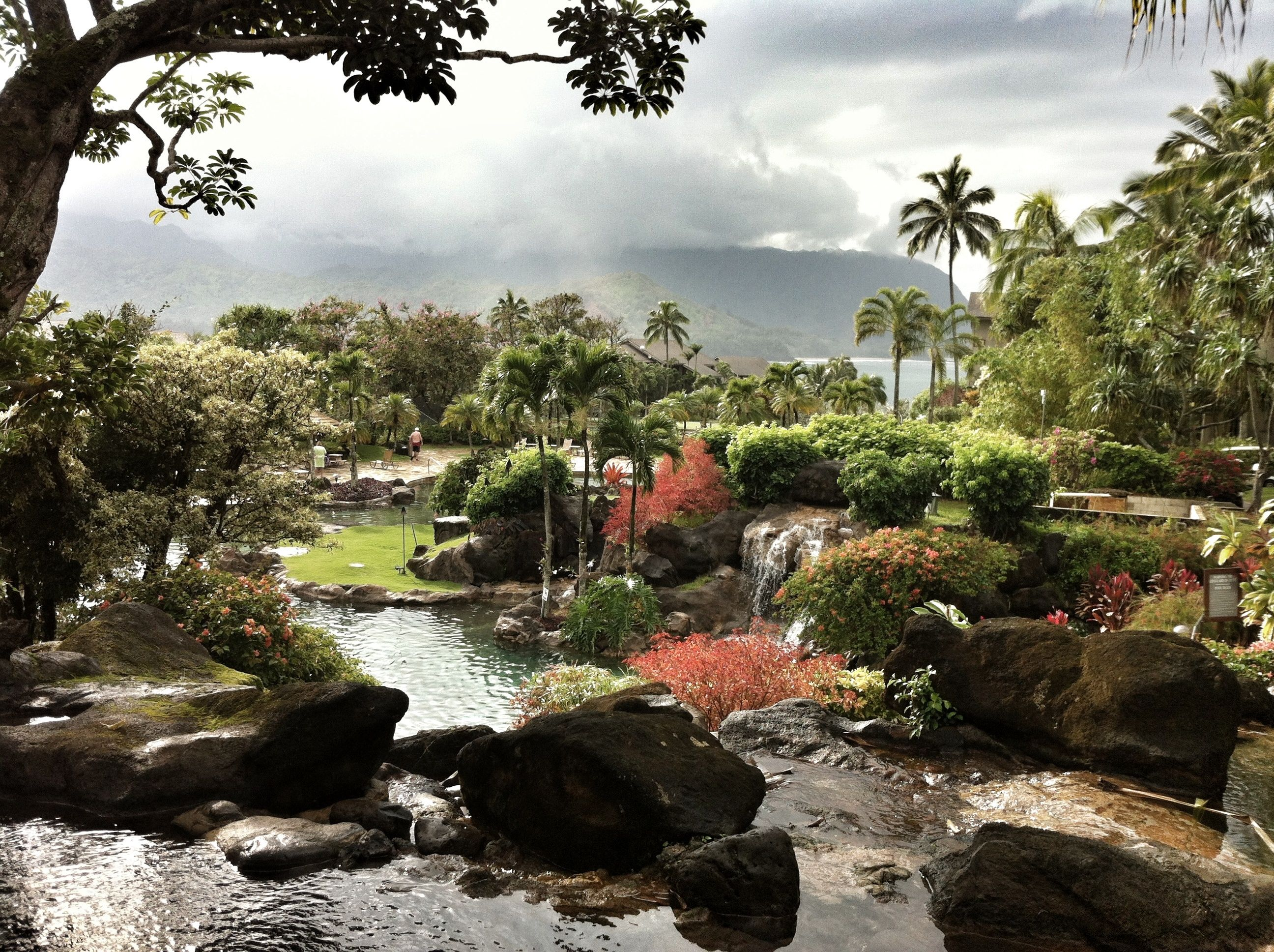 The pool at Hanalei Bay Resort in Princeville, Kauai.