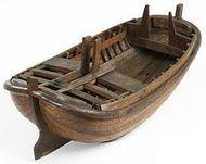Onvoltooid model van een beurtschip.