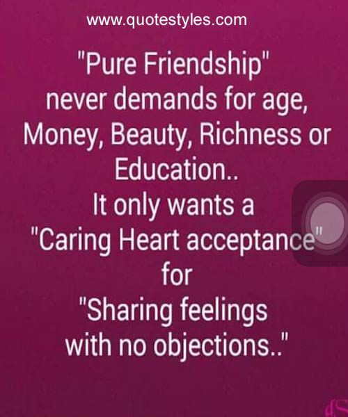 Sharing Feeling With No Jobjections Frinedship Quote Friendship Quotes Quotes Feelings