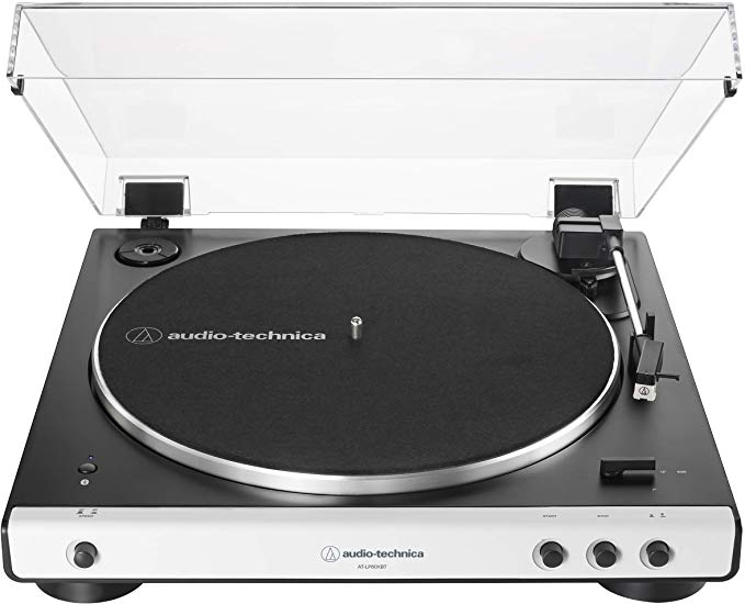 Amazon Com Audio Technica At Lp60xbt Wh Fully Automatic Bluetooth Belt Drive Stereo Turntable White Black Hi Fidel Stereo Turntable Audio Technica Turntable