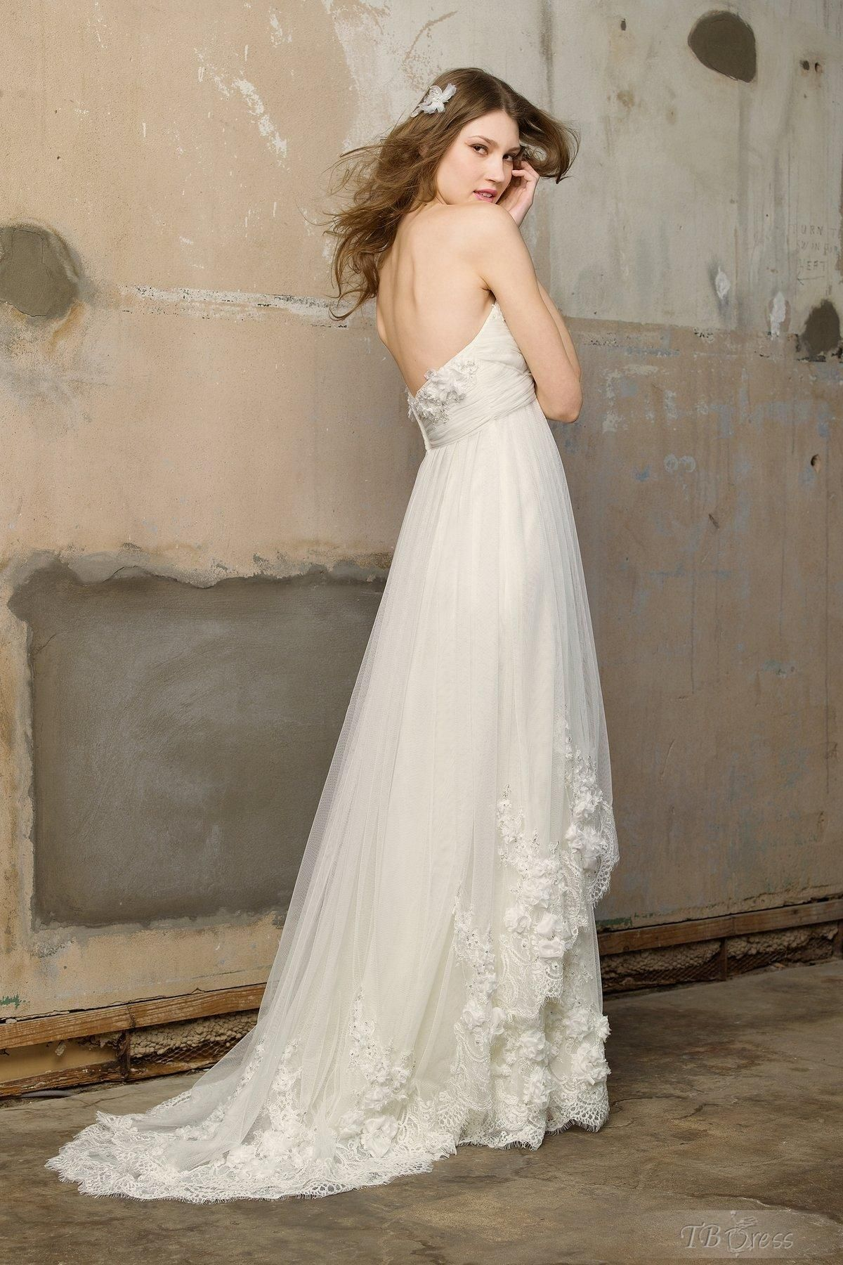 Lauraus other wedding dressamazing empire sweetheart floorlength