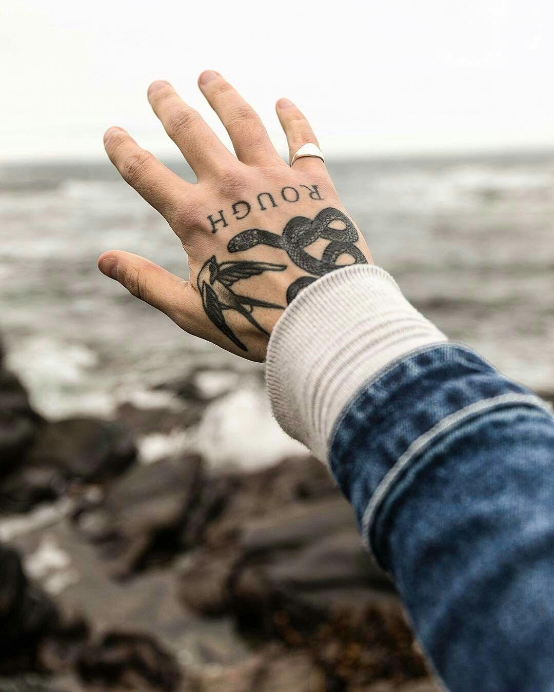 Hand tattoos snake Hand tattoos, Knuckle tattoos, Finger