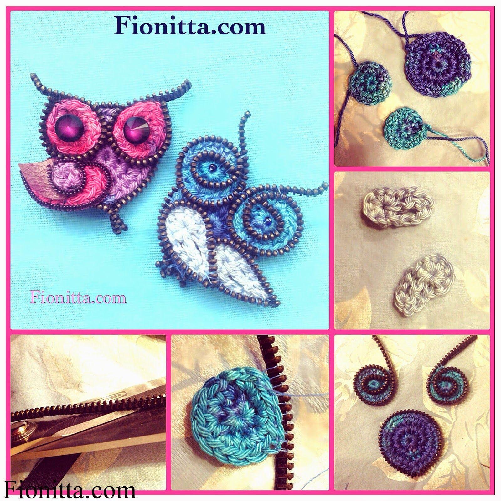 Broche Buho de Crochet con Cremalleras - Patrones Crochet   YO Baby ...