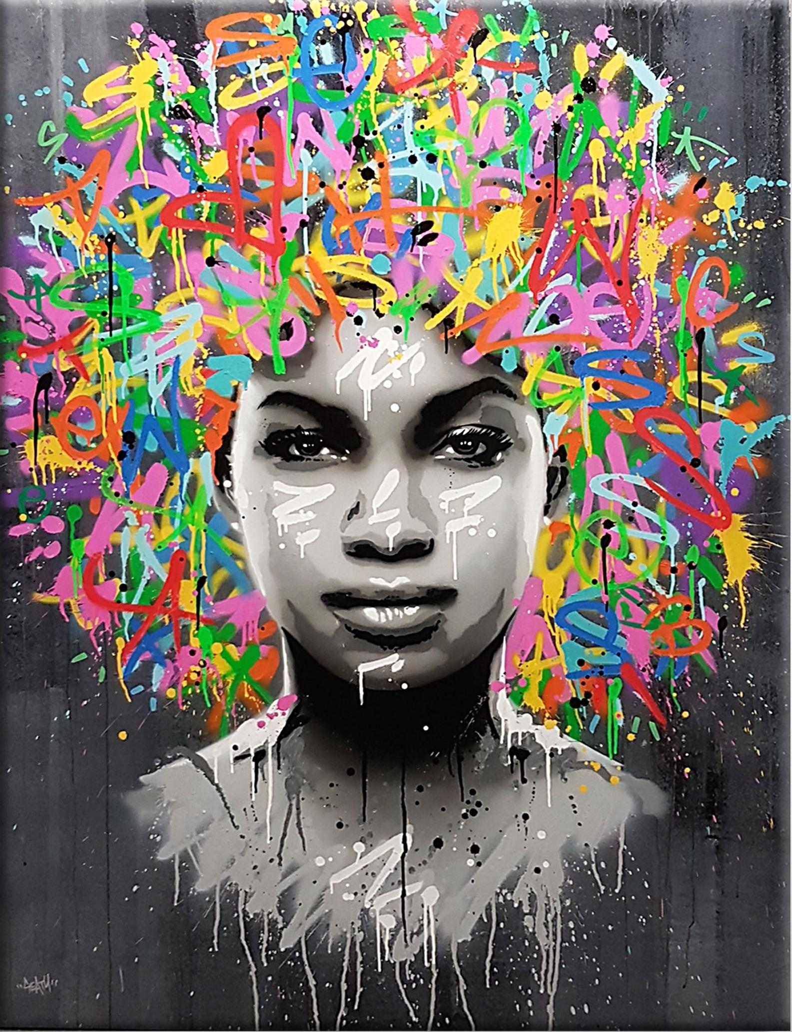 120cm  Banksy print  Graffiti Street Art Wall Decor Canvas quote