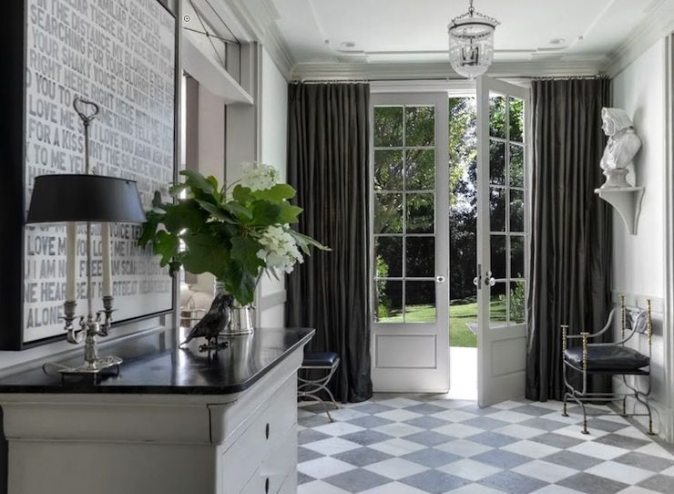 Windsor Smith Home: Windsor Smith Home - Gwyneth Paltrow - Stunning entryway with traditional glass paneled ...