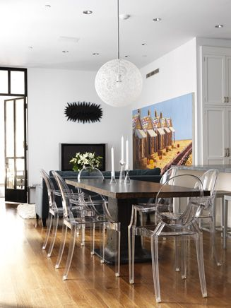 High Quality Ghost Chair Dining Room, By Sara Story   Ghost Chairs With Black/dark Dining