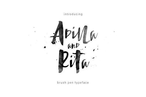 this is Adilla and Rita typeface, simple and easy to create awesome lettering. Can be used for various purposes. such as headings, logos, wedding invitation, t-shirt, letterhead, signage, label, news, posters, badges etc.