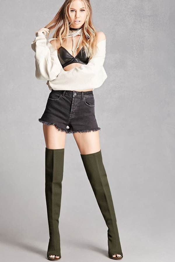 7728722c97 Forever 21 Over-the-Knee Knit Sock Boots | Boinkable in 2019 ...