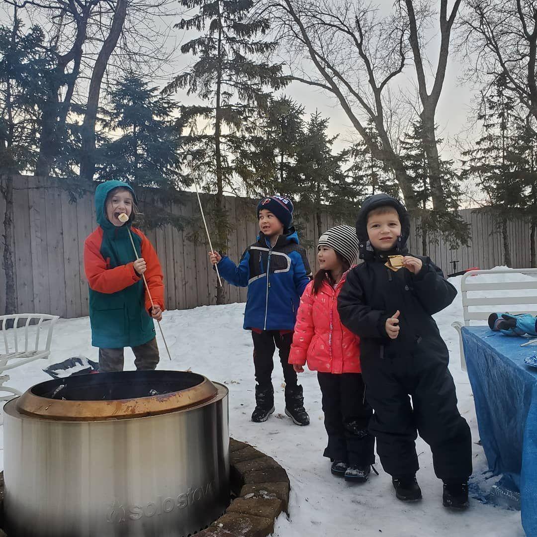 Pure winter joy.  Best bonfire pit ever. #christmas #christmasjoy #innocence#bon...#bonfire #christmas #christmasjoy #innocencebon #joy #pit #pure #winter