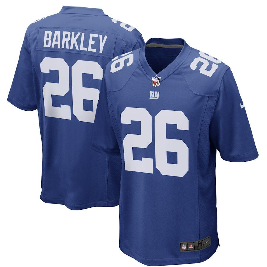 adf9e1f56 Saquon Barkley New York Giants Nike 2018 NFL Draft First Round Pick Game  Jersey – Royal