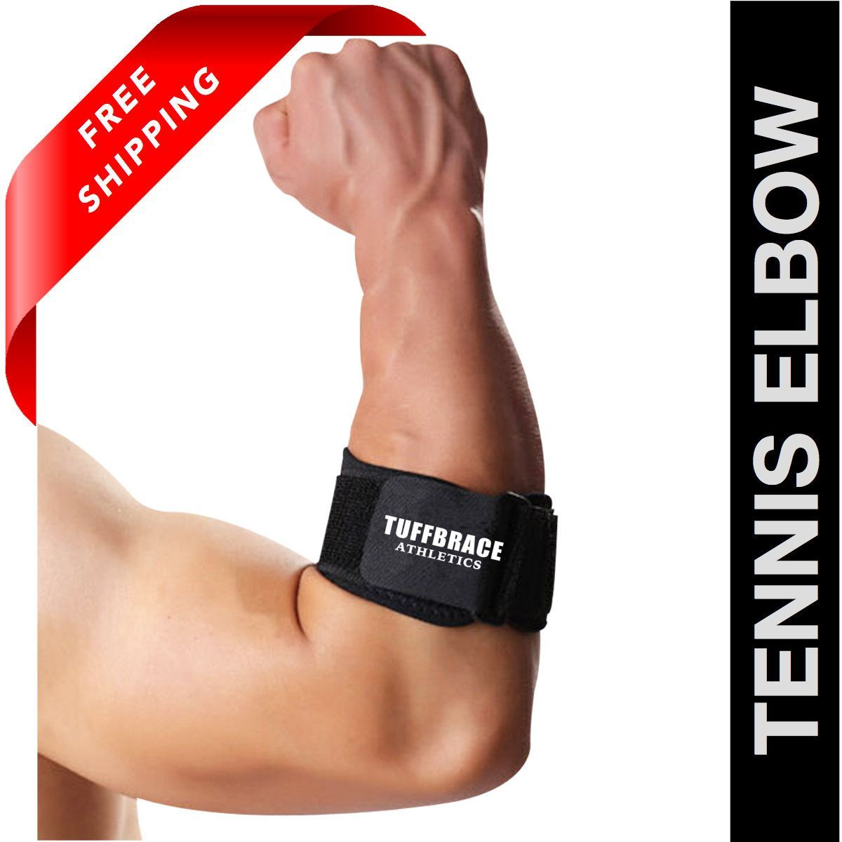 Tennis Elbow Brace by Tuffbrace Athletics. Free Shipping