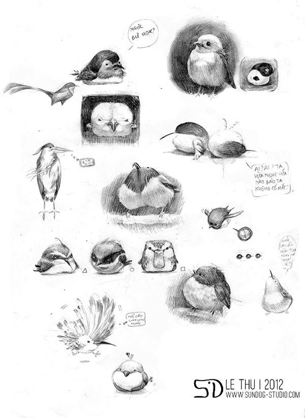 Birds and birds and birds by Le Thu, via Behance