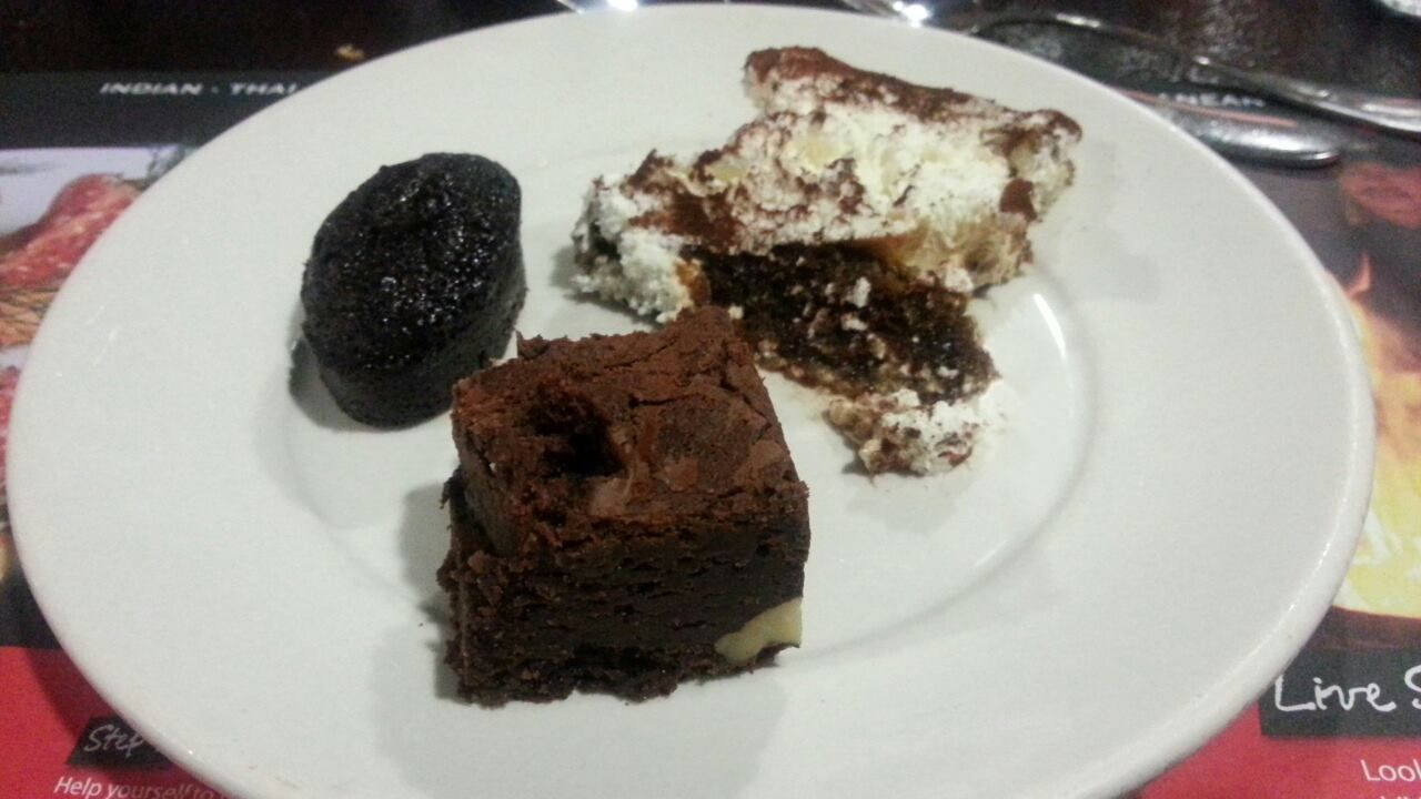 Desserts of the world trio of desserts not bad at all the