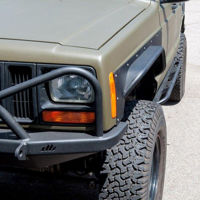 Diy Front Tube Fender Flares Jeep Cherokee Xj Jeep Cherokee