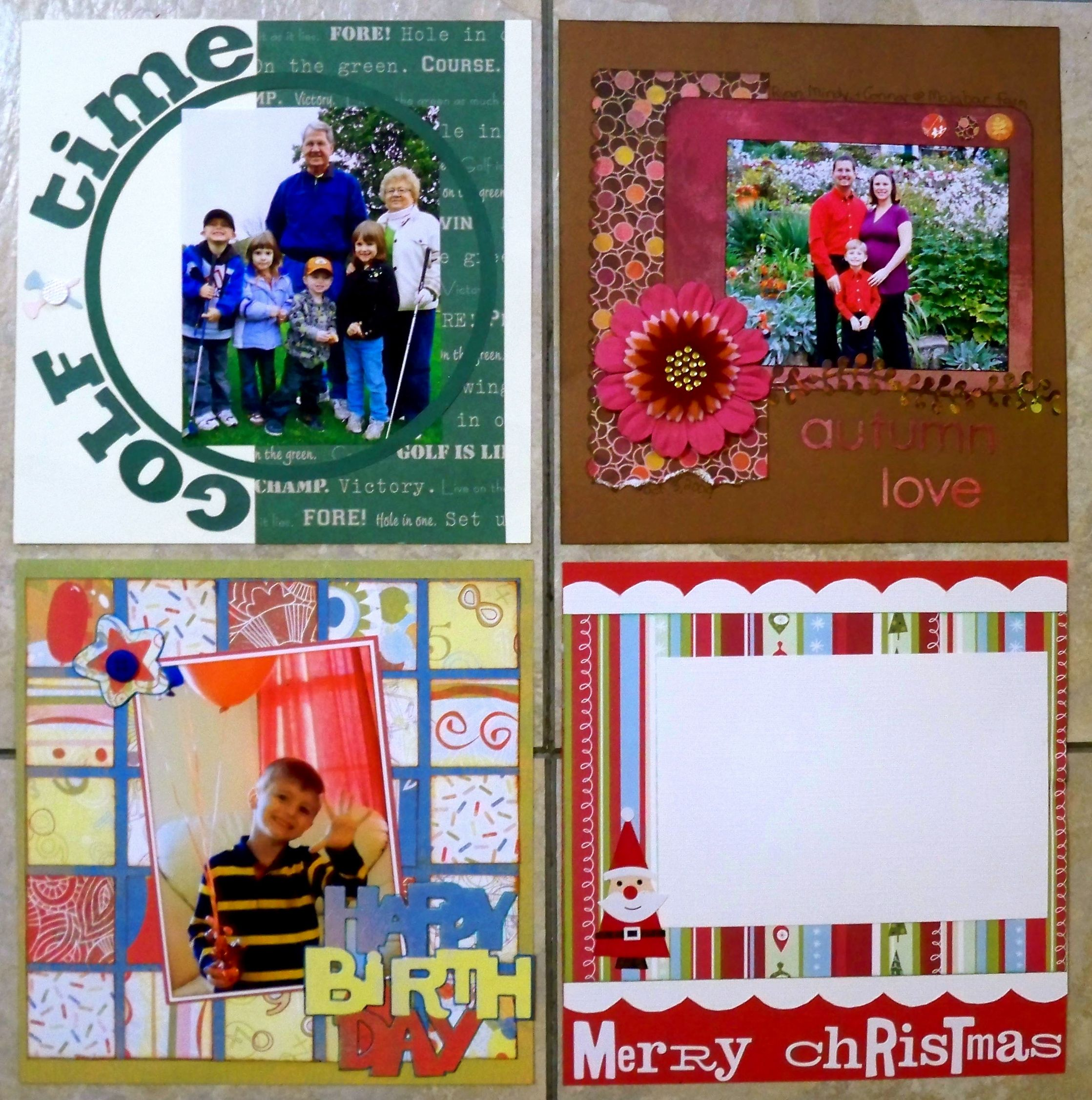 How to scrapbook 8x8 layouts - 8x8 Scrapbook Layout Sketches Layout Sept Oct Nov And Dec 8x8