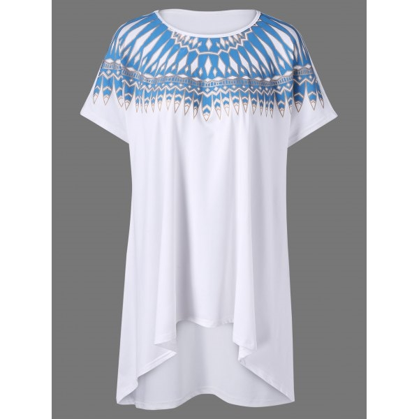 19.03$  Watch now - http://ditoh.justgood.pw/go.php?t=203914001 - Plus Size Tribal Print Tunic T-Shirt