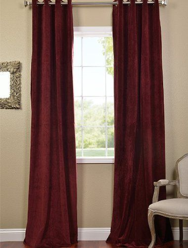 Blackout Curtain Solid Blackout Thermal Grommet Single Curtain Panel Color Burgundy Size 120 L X 100 W Roomdarkenin Panel Curtains Cool Curtains Curtains