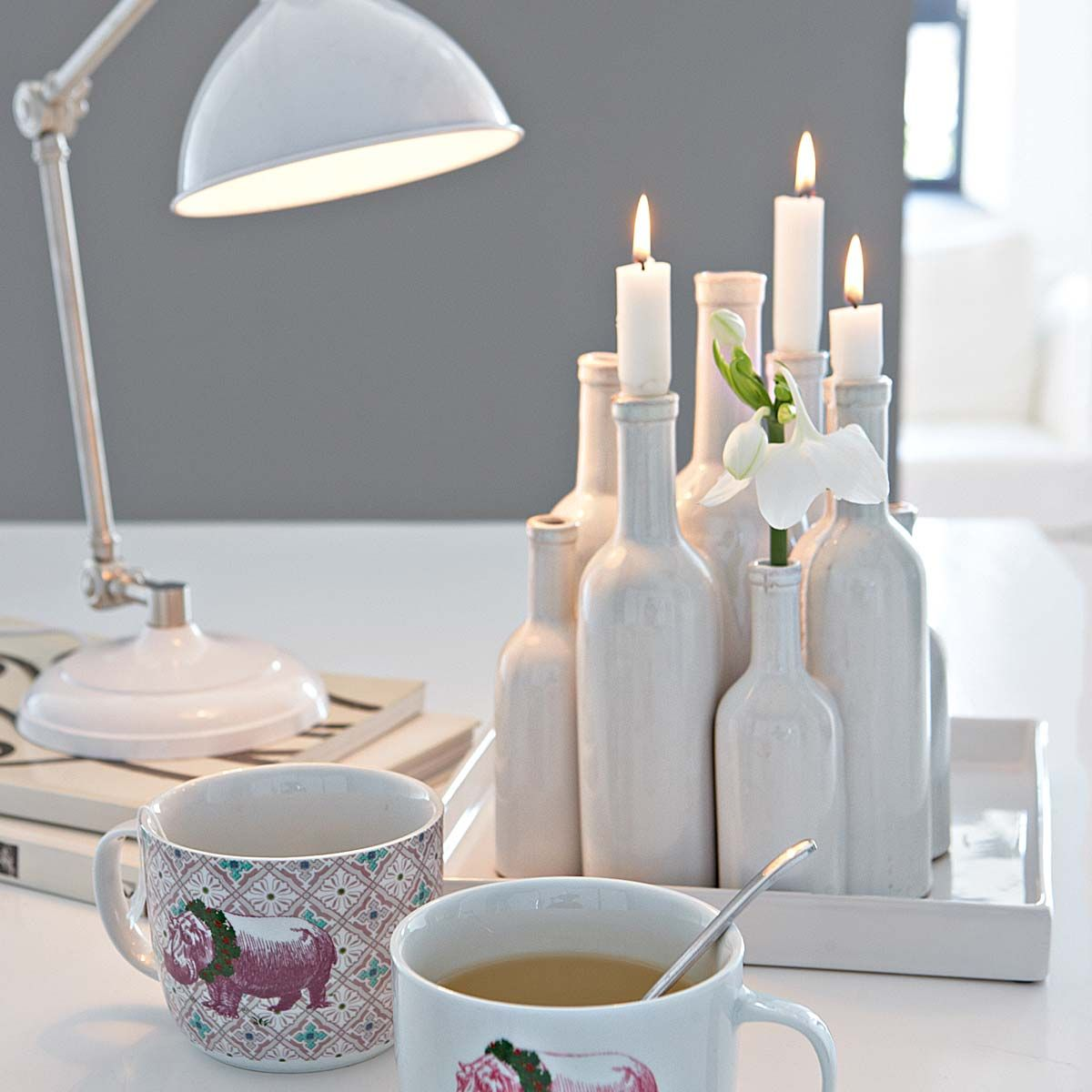 vasenb ndel tablett for the home pinterest flaschen dekorieren kerzen und flaschen. Black Bedroom Furniture Sets. Home Design Ideas