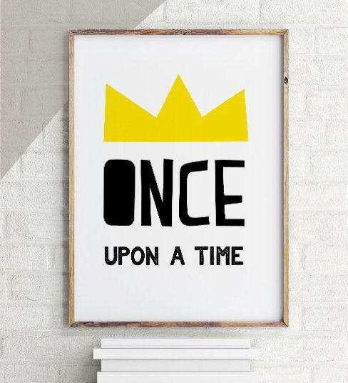 50% SALE princess wall art, princess decor, once upon a time,  princess print, princess wall decor, princess decor quote, princess quotes by MiniPrintsStudio on Etsy