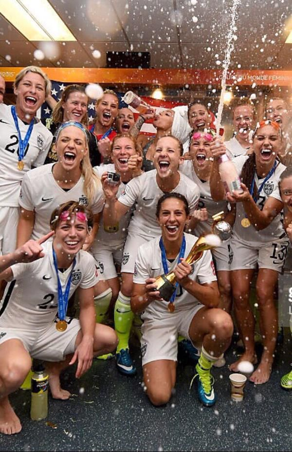 Uswnt 2015 World Cup Champions Via Sydneyleroux Usa Soccer Team Usa Soccer Women Us Women S National Soccer Team