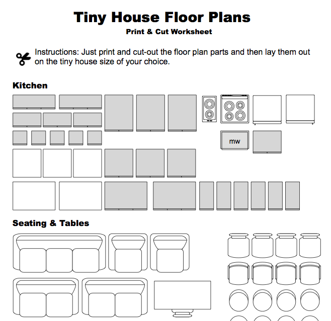 Make Your Own Tiny House Floor Plans Just Download Our Print Cut Worksheet